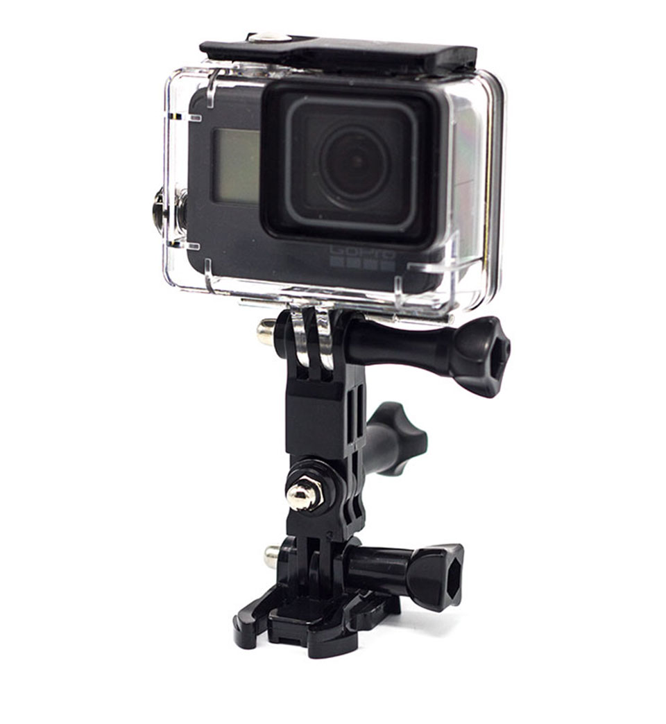 Mount Quick Release Buckle Tripod Three Way Surface base Adjustable Helmet Clamp Pivot Arm Mount Extension for GoPro Hero6 5 4 3