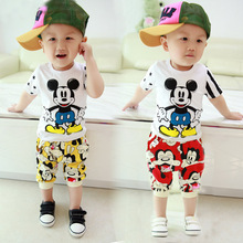 SS2 0-4Y T shirt+ Shorts Children Clothing Set Trendy Baby Boy Suit Babies Fashion Boys Set Mickey Kids Summer Clothes Infant