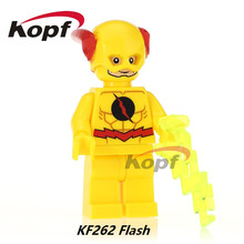 Legends of Tomorrow Red Black Yellow Flash Green Lantern Building Blocks Super Heroes Bricks DIY Education Toys Kids Gift KF262