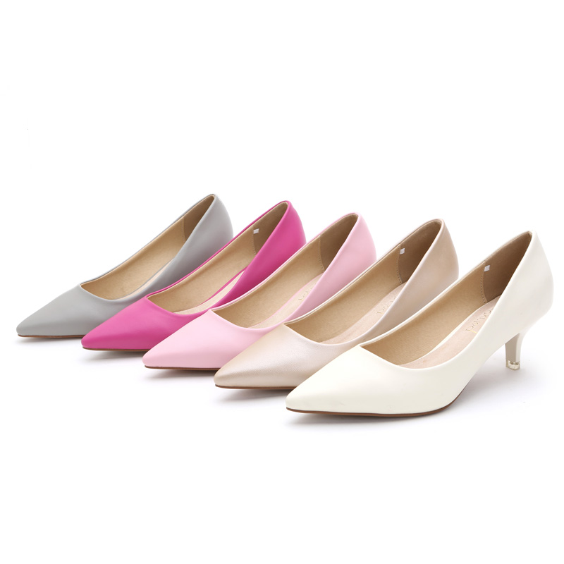 New Arrival womens high heels shoes 2017 luxury heels pink red bottom heels sapato feminino OL lady work office sexy shoes <br><br>Aliexpress