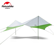Naturehike Hexagonal Sun Shelter With Poles Waterproof Awning Canopy Beach Tent Beach Shade Tarp Pergola Camping Sunshade Gazebo