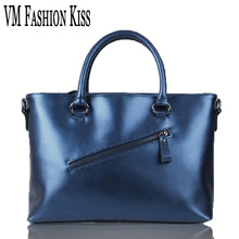 VM FASHION KISS Import Genuine Leather Women Large Capacity Totes Simple Cowhide Shoulder Bag Famous Brand Luxury Handbags(China)