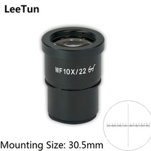 Buy WF10X Super Wide Angle 22mm High Eye-point Eyepiece Optical Lens Stereo Microscope 30.5mm Mounting Size Reticle Scale for $24.94 in AliExpress store