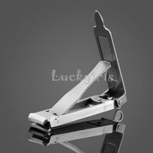 EDC Ultra-thin Foldable Hand Toe Nail Clippers Cutter Trimmer Stainless Keychain Hight Quality Wholesale(China)