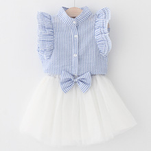 Girls-Dress-2017-Summer-Style-Girls-Clothing-Sets-Butterfly-Sleeve-Kids-Clothes-Striped-T-shirt-Bow.jpg_220x220