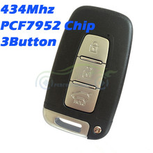 434Mhz 7952electric chip keyless entry car key control auto smart card for Hyundai IX35 Accent Elantra Veloster I20 I30
