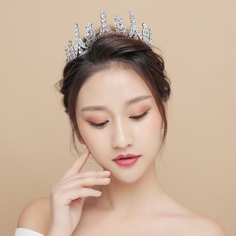 Gorgeous Rhinestone Princess Tiara Crown Bridal Wedding Engagement Headband Hair Jewelry Beaded Hairband Women Costume Headdress