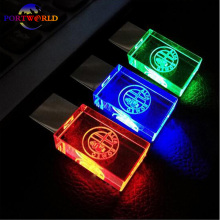 Alfa Romeo USB Stick LED 2.0 Memory Drive 8GB 16GB 32GB Flash Drive Crystal Transparent Car Logo LED Pen Drive