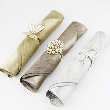 2Pc 45cmX45cm Gold/Silver Napkin Cloth Euro Fashion Bright Surface Western Table Napkin Wedding Hotel Accerrories