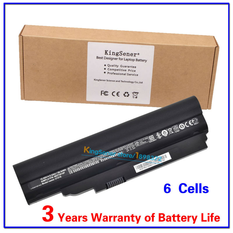 KingSener 10.95V 5.2Ah Laptop Battery U1216 for BENQ JoyBook Lite U121 U122 U122R U1213 2C.20E06.031 983T2019F 8390-EG01-0580<br>