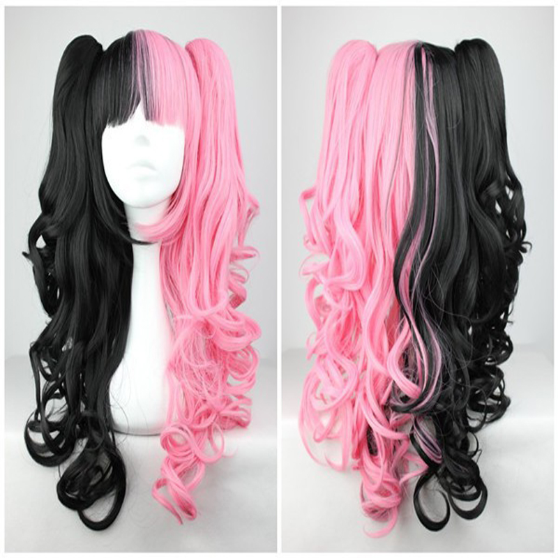 HAIRJOY  Pink And Black 70cm Classical Anime Wavy Braided Lolita Cosplay Wig<br><br>Aliexpress