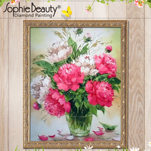 China Online Shopping Diamond Painting Manufacturer Various Size Digital Flower Diamond Painting Home Decor Wedding Decoration(China)