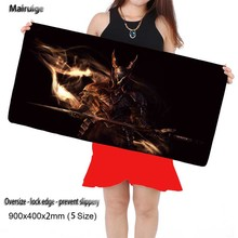 Dark Souls Fire Free Shipping 900*400*2mm Gaming Anti-slip Silicone  Mouse Pad Notebook Computer Lock Edge Mouse Mat for Cs Go