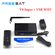 2 pcs Freesat V8 Super DVB-S2 Satellite Receiver Full 1080P HD Satellite decoder 2 Pcs Usb wifi support Biss Key Youporn clines(China)