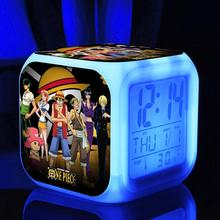 Light-Up Toys One Piece Luffy Retail Wholesale, monkey d. luffy LED bells, Digital Colors TOUCH LIGHT with AlarmClocks Pirates
