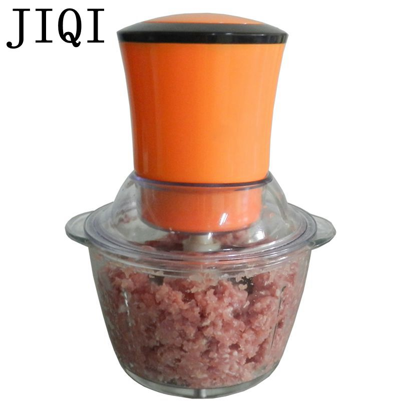 JIQI Electric Meat Grinder Blender Chopper Multifunction Crushed garlic Grinding Machine Pepper Cutter Mincer slice 1L 110V 220V<br>
