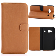 30pcs/lot For Kyocera Android One S2 Crazy Horse Stand 3 Card Slots Vintage Leather Case For Kyocera Rafre KYV40 Miraie F KYV39(China)