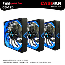 ALSEYE 120mm fan (3pieces/lot) PWM Fan Cooler DC 12v 4pin 500-2000RPM Silicone Silent Fan for Computer Case / CPU Cooler
