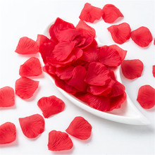 500pcs Artificial Flower Red Rose Petals Wedding Party Decoration Supplies Wholesale 5pack=500pcs(China)