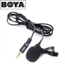 BOYA BY-LM10 Smartphone Omnidirectional Lavalier Microphone for iPhone 7 6 6s 5 Sumsang GALAXY Android Phone Broadcast Recording