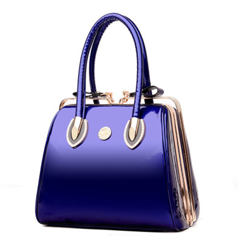 Luxury Women Bag Patent Leather Handbag Shiny Crystal Handbags Women Fashion Evening totes New Ladies Handbag Party Clutch 2017<br>
