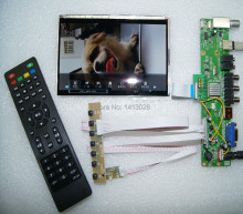 TV+USB audio input/output+AV+HDMI+ VGA LCD driver board + 7 inch IPS HSD070PWW01-B01 DIY small TV sets Support screen function