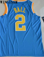 WINGISAM 2017 UCLA Bruins Lonzo Ball 2 College Tees Authentic Basketball Jersey