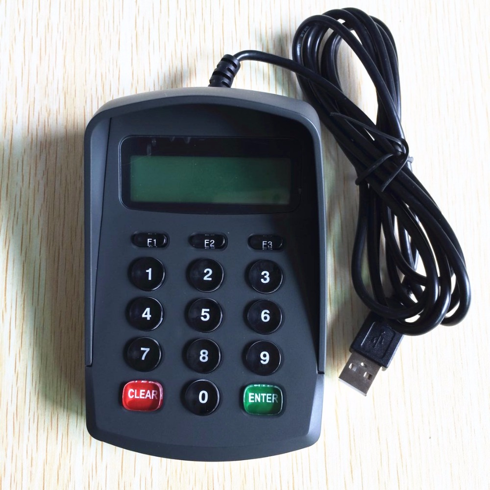 Programmable USB Emulator RS232 Interface 15 Keys Numeric Keyboard / Password Pin Pad YD531with LCD Support EPOS System +SDK Kit<br>