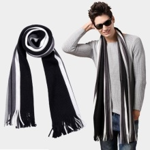 winter bussiess tassel scarf men 10colors luxury brand striped faux cashmere scarves pashmina shawl,foulard echarpe hiver homme
