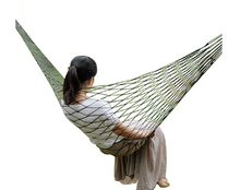 Mesh Hammock Cot Bed Mesh Net Hammock with Metal Loops for Outdoor HM9665(China)