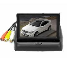 Car Back Up Camer Monitor Screen 4.3 inch LCD TFT Foldable Color For Car Reverse Rearview Camera dropshipping jul6