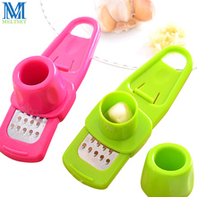 1PC Multi Functional Garlic Presses Crusher Ginger Grinding Grater Kitchen Gadgets Garlic Chopper(China)