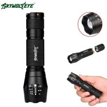 SKYWOLFEYE 8000 Lumen Zoomable CREE XM-L T6 LED Flashlight 3 Modes Portable 18650 Battery Mini Torch Focus Lamp For Cycling PJW