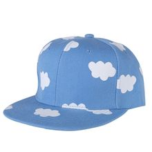 New Listed Fashion Street Woman Men Hip Hop Snapback Cloud Pattern Adjustable Baseball Caps(China)