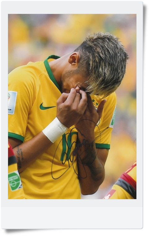 signed Neymar autographed  original photo  7  inches freeshipping  062017 <br>