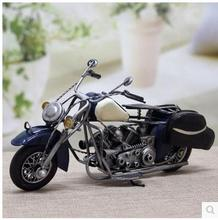 Figurines drawing creative European style wrought iron motorcycle models household decoration gift furnishing articles