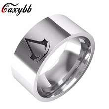 2017 latest styles Assassins Creed Ring Stainless Steel Band For Men Size