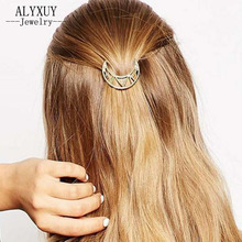 New fashion hairwear gold color moon hairpin hair combs hair sticks barrettes gift forgirl H383