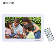 "Andoer 12""  HD LED Digital Photo Frame Digital Album 1280*800 Multi-Language Including LED Clock Calendar MP3 MP4 Movie Player"