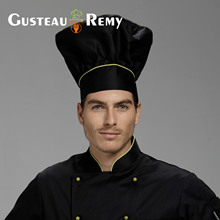 2017 Chef Uniform Chef Uniform Real Fashion Hotel Restaurant Explosion Cap Custom Pleated Piping Accessories And Kitchen Hat