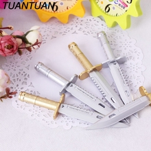 TUANTUAN 1pcs Writing Office Pens School Supplies Stationery For Kids Student Gift Unique and Novel Modeling Knife Ballpoint Pen