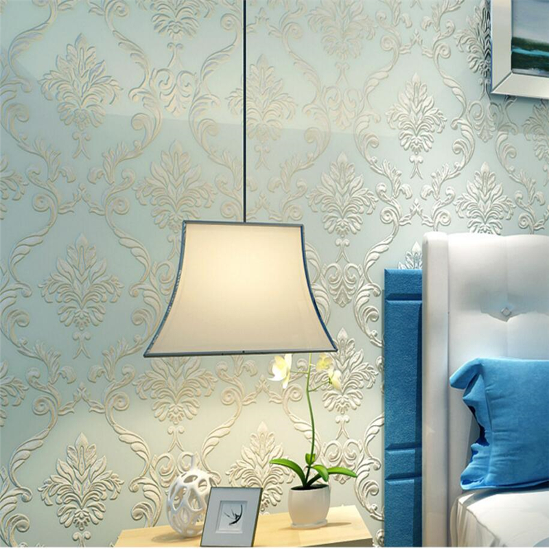 Beibehang 3d wallpaper Damascus relief cover 3d wallpaper roll paper bedroom 3 d TV sofa living room bedroom wallpaper wall 3 d<br>