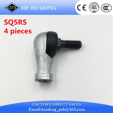 Free Shipping 4pcs/lot SQ5 RS 5mm Ball Joint Rod End Right Hand Tie Rod Ends Bearing SQ5RS