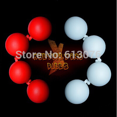X-Multiplying Balls (2 Sets,White or Red),Two Balls For Eight - Magic Tricks,Accessories,Stage,Gimmick,Illusion,Comedy<br>