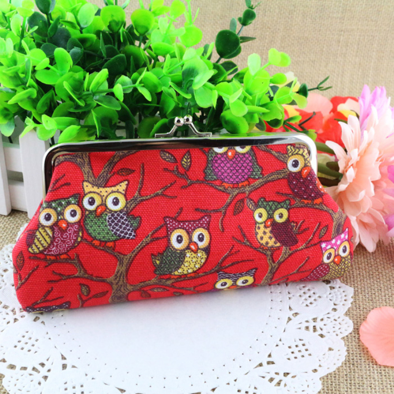 New Fashion Owl color printing women coin purse,lady change purse,Patent Leather coin wallet,Female money bag wallet 2016<br><br>Aliexpress