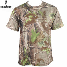 Saenshing Browning Camouflage Shirt Hiking Hunting Shirt Quick Dry Outdoor t shirt Short Sleeve Coolmax Camo Shirt Tactical Tops