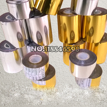 2 Rolls(gold and slilver) Hot Foil Stamping Paper Heat Transfer Anodized Gilded Paper Free Ship