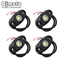 4 Pcs Universal 9W LED Rock Light Flood Beam LED Light 12V 24V 4x4 Under Body Trail Rig Light SUV ATV Boat Car Decorative Light(China)