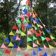 22M Outdoor Rainbow Bunting Party Flags/Huge Birthday Parties/Market Stalls