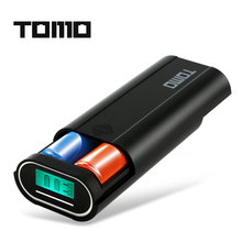 TOMO M2 2 x 18650 Li-ion Battery DIY portable Smart Charger with LCD Display Screen external power bank function Dual Outputs